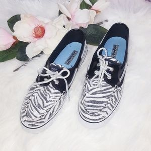 Sperry | White Zebra Sequins